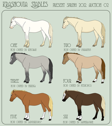 Adoptables - 2012 Spring 02 CLOSED by MauserGirl