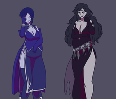 ursula and sonia 07062018: black fang fertility by Jellybeans2