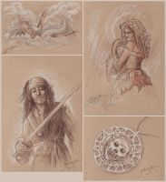Pirates Sketches by jackieocean
