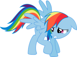 Rainbow Dash Pose Work by elegantmisreader