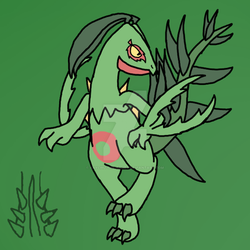 Mega Sceptile (Theories and Speculation) by Kaychu-The-Gamer