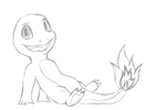 Chillin Charmander Sketch by Ashidaru
