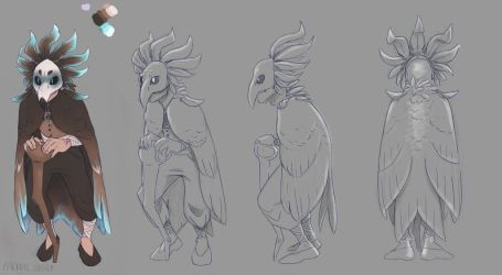 Character Design Class: Character B Turnaround by aacrell