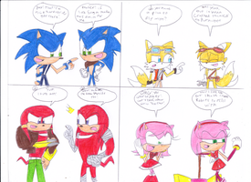 what if Sonic4Ever meets Sonic BOOM by Jack-Hedgehog