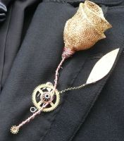 Steampunk buttonhole by Unkillable-cat
