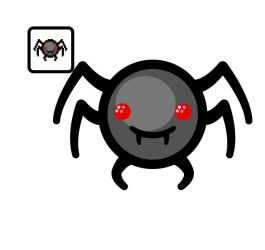Vectorized Isaac Week #66: Spider Bite by giftedscholar