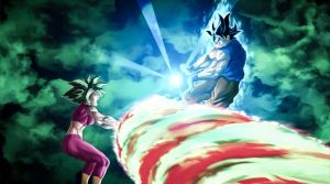 Ultra Instinct Goku vs Kefla by iRush4Tacos