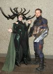 Hela And Captain America by sacphotos