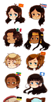PC Chibi heads batch 1 by FlopyLopez