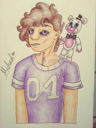 Michael Afton doodle by Pink-Sanity