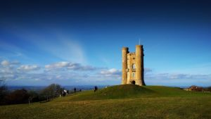 Broadway Tower landscape by GrungeTV