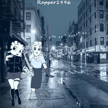 Betty and Sally walked on their way to a Jazz Club by Rapper1996