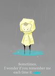 Each time it rains by Germille