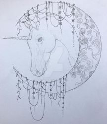 Unicorn wip by Lucy101