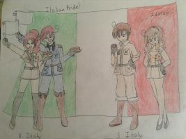 Hetalia - The Italy Brothers and Sisters by MoonlightStar400