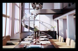 Dining Room render by naderdes