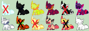 Fox Adoptables Auction - OPEN  (07/12) by Adoptables-Quest