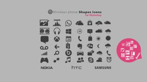 Windows phone 8 Shapes for Photoshop by sharkurban