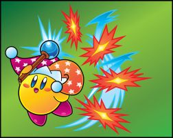 Kirby Vector: Beam Kirby by ShadowLifeman