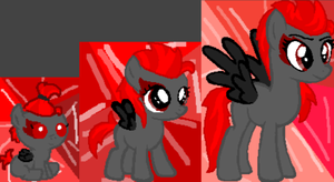 My mlp oc - Red Rue (based used) by LindieMalfoy