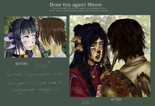 Draw This Again! meme_ Musique and Sen by Elby-manga-addicted