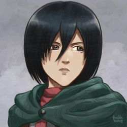 Daily Sketches Mikasa Ackerman by fedde