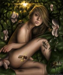 Thumbelina in world of bees by Gr4fic