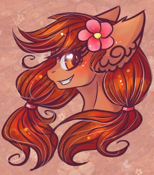 Portrait Commission: Surfing Blossom by Wilvarin-Liadon