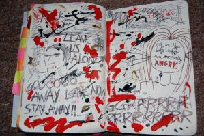 Wreck This Journal: Angry Page by hannahakaskatergirl