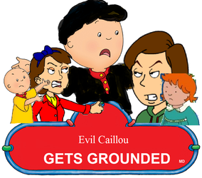 Evil Caillou Gets Grounded Logo by RhiannaPiano300