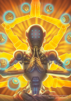 Zenyatta - Overwatch by CAROTdrawsthings