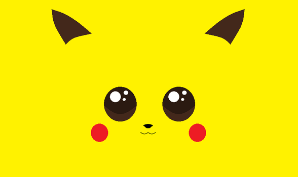 Pikachu's Face by TrainerHaemon