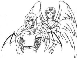 Winged Couple by sindra