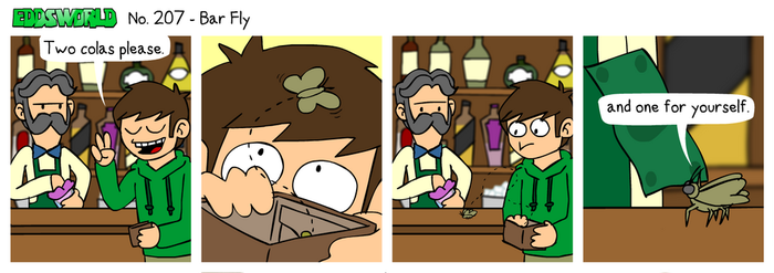 EWCOMIC No. 207 - Bar Fly by eddsworld
