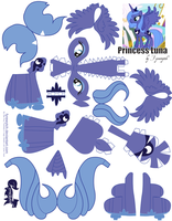 Princess Luna Printout by FyreWytch