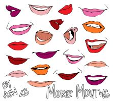 Let's Draw... More Mouths! by ashesto