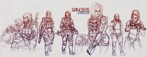 Rangers Sketches by Shimmering-Sword