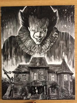 You'll float too. Ink on claybord  by mrmarkchilcott