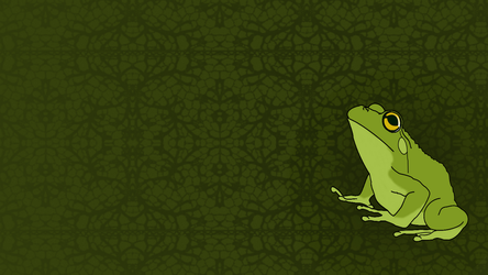 Frog Wallpaper by Lalamags