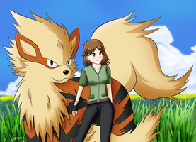 A Pokemon Trainer and her Arcanine by Seiryu6