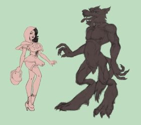 Red Riding Hood WIP by thefooltouchstone