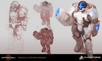 Jupiter Hell - Special forces concept art by EwaLabak