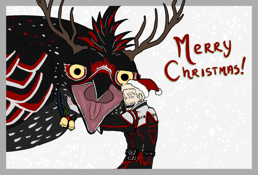 Merry XMAS from a guy and his bird by Scylla225