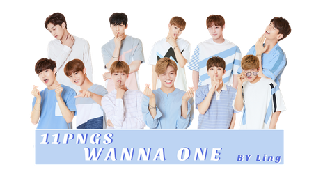 [PNG PACK]WANNA ONE 11PNGS by l8686837
