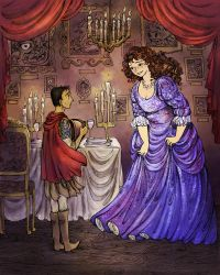 Sam Vimes and Lady Sybil's first date by La-Chapeliere-Folle