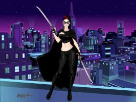 Roxanne/Shadow (Batman OC) by suburbantimewaster