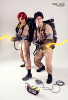 Ghostbusters - Janine Melnitz and Egon Spengler by kathy1602