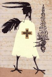 Avian Saint by lonelybadger