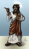 Buddy Christ HeathenSent style by JillJohansen