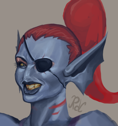 Undyne by tippedchair